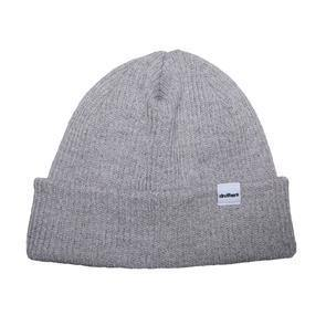 Druthers Beanie recycled cotton knit light grey heather