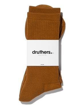 Druthers Everyday Organic Cotton Crew Sock, Camel
