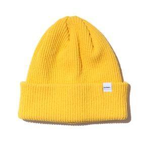 Druthers Beanie, Recycled Cotton Knit Yellow