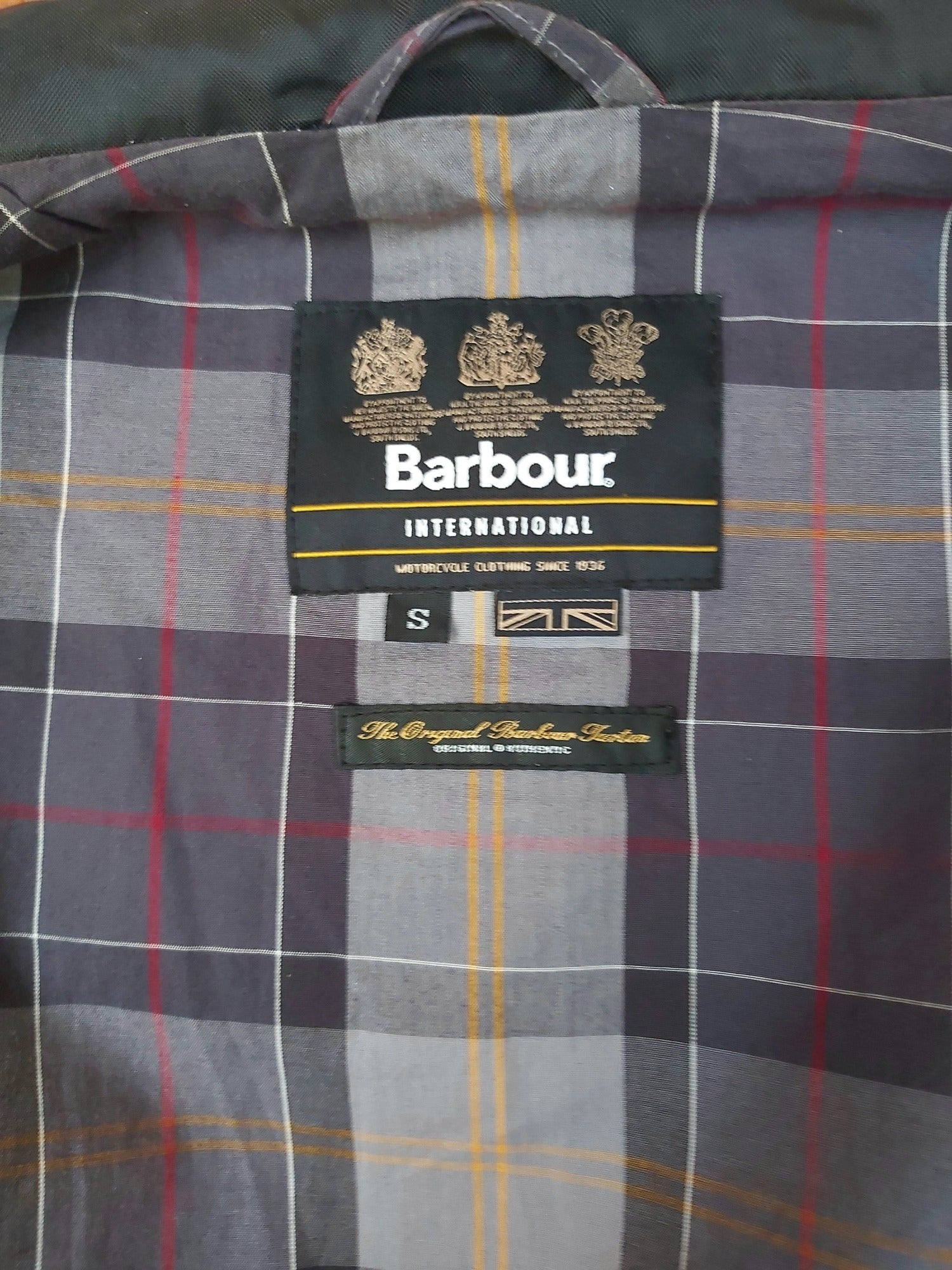 Mens Black Lightweight Barbour International Jacket - Size S