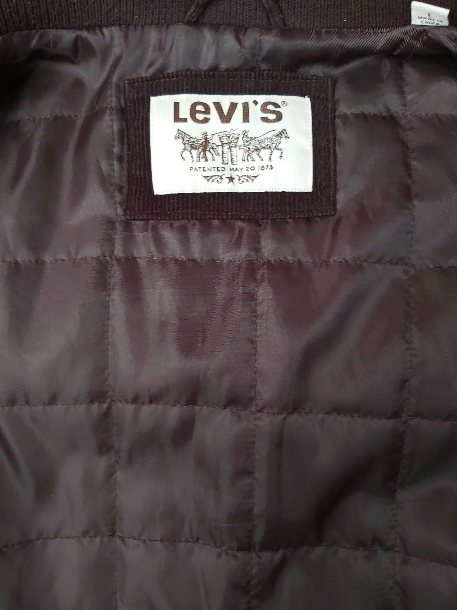 Mens Levis Brown Cord Jacket - Size Large