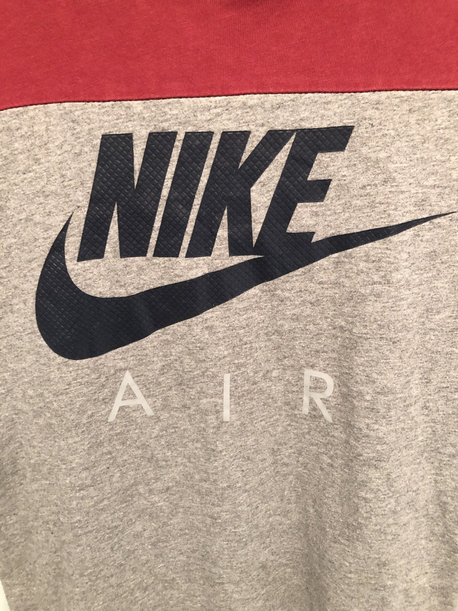 Nike Air Athletic Cut T-Shirt Red and Grey - Size S - Urban Village Vintage Sportswear
