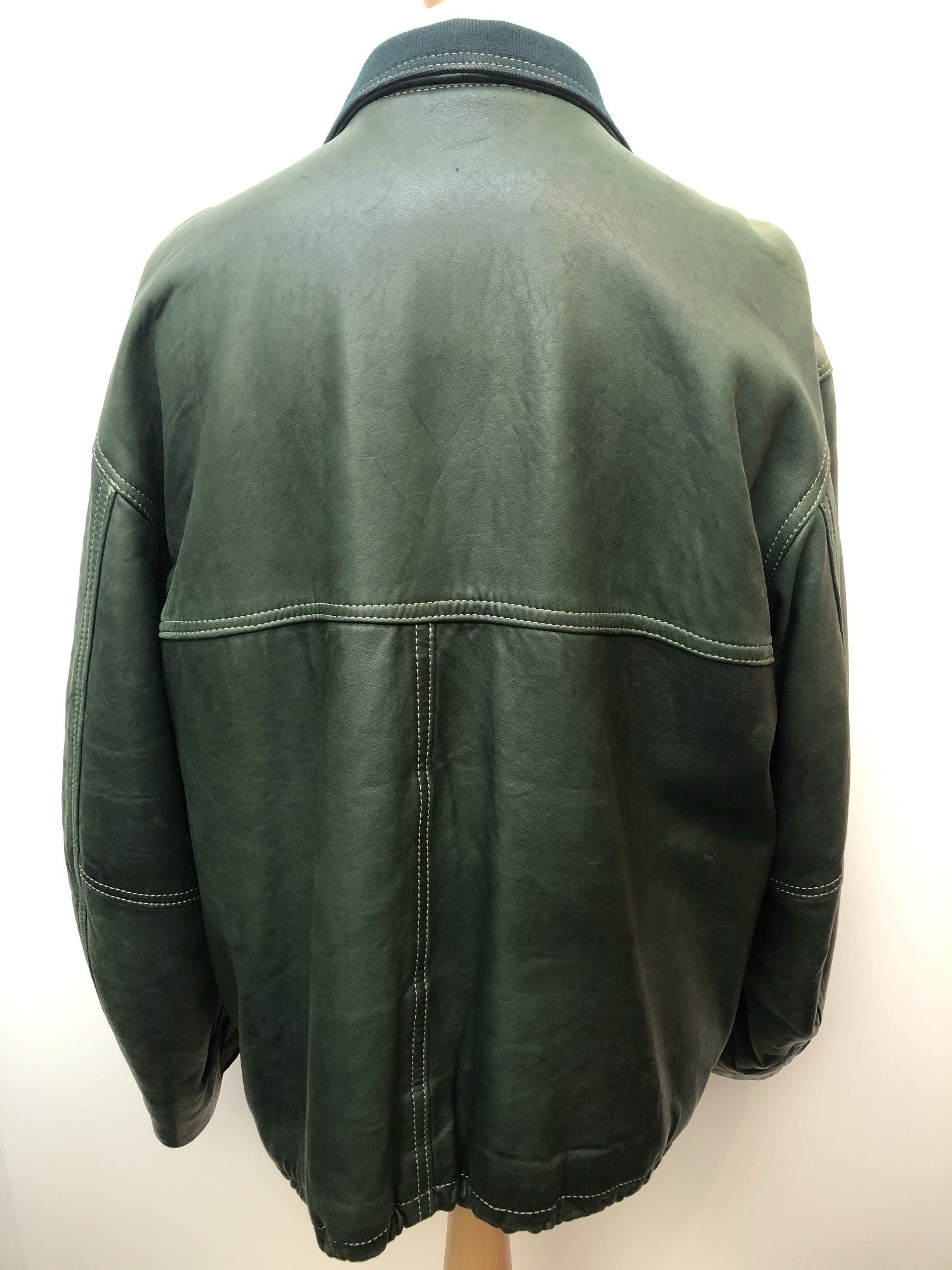 vintage  Redskins  Outdoor jacket  M  leather jacket  leather  jacket  Green Urban Village Vintage