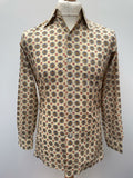 Funky 1970s Patterned Shirt - Size S-M