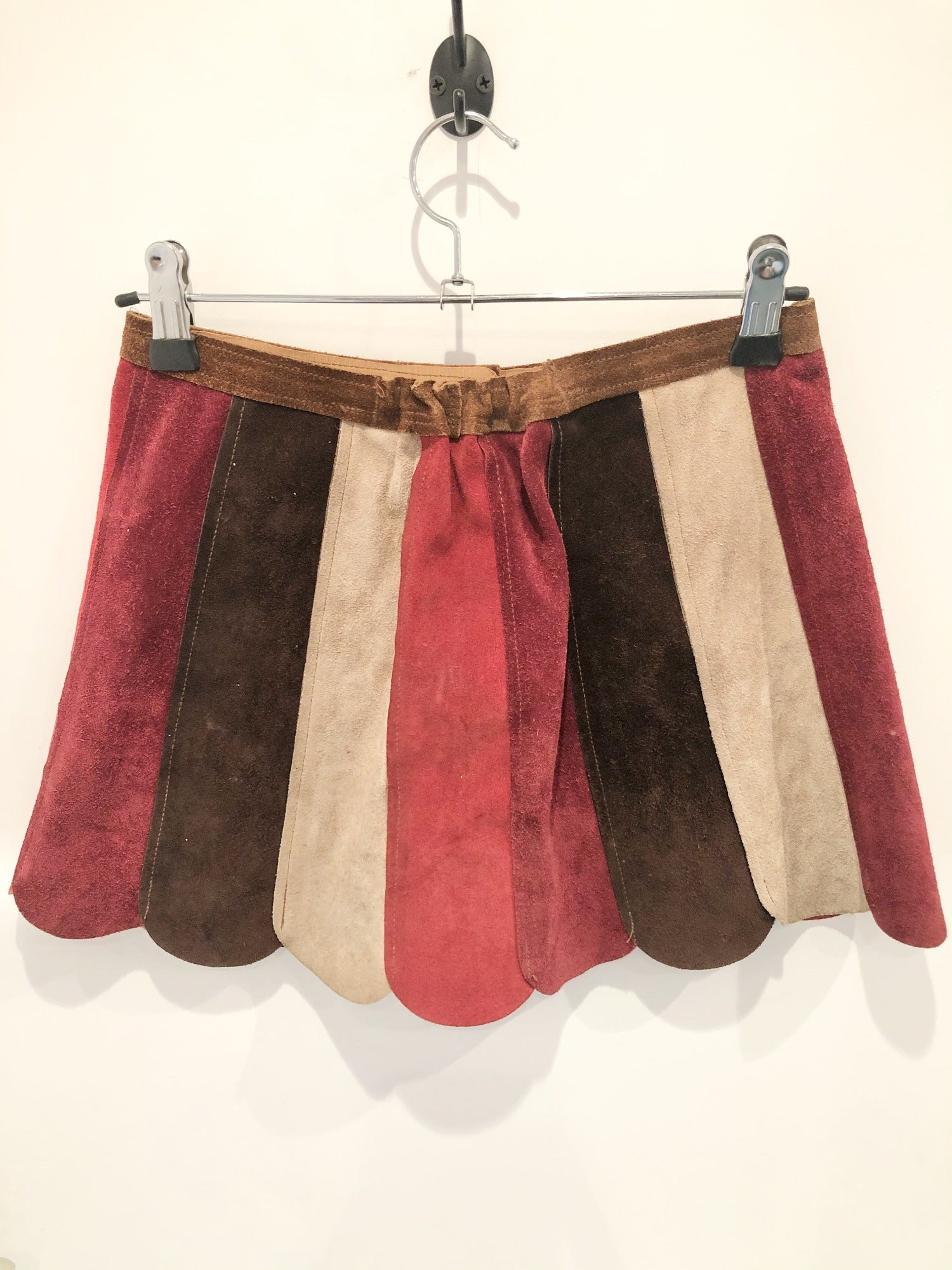 Vintage 1960's Suede Mini Skirt - Size 4/6 XS