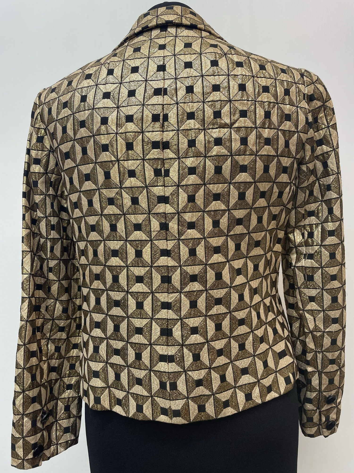 60s  womens  vintage  Urban Village Vintage  MOD  Jacket  gold button  gold  decorative buttons  collar  coat  70  1970s  1960s  12  10