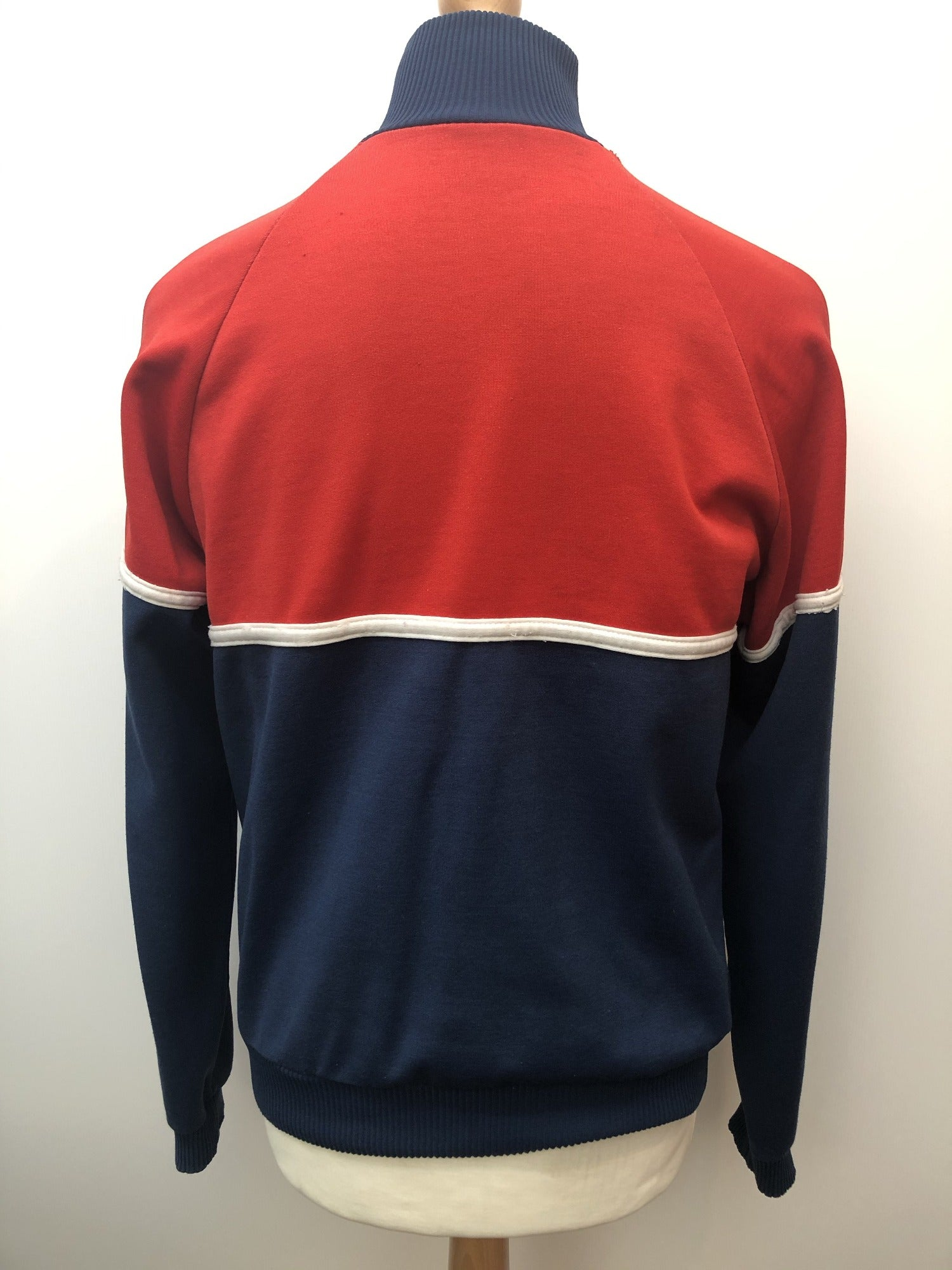 S vintage training Tracksuit Top Tracksuit track top retro red Navy mens logo Jacket blue adidas 3 stripe Urban village vintage