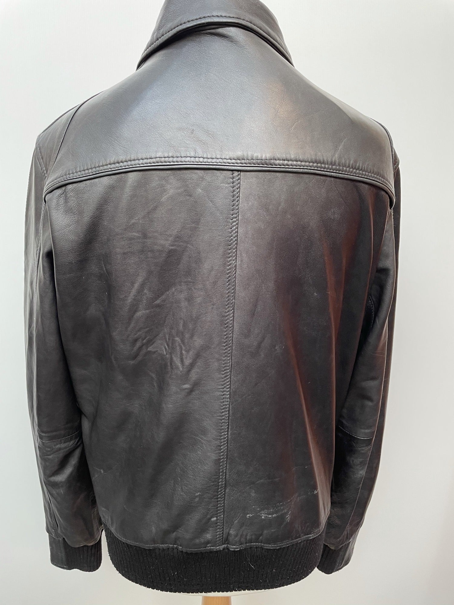 vintage  MOD  Mens jacket  mens coat  Mens Bomber jacket  mens  l  Jacket  Black Leather  Black Jacket  black  ben sherman