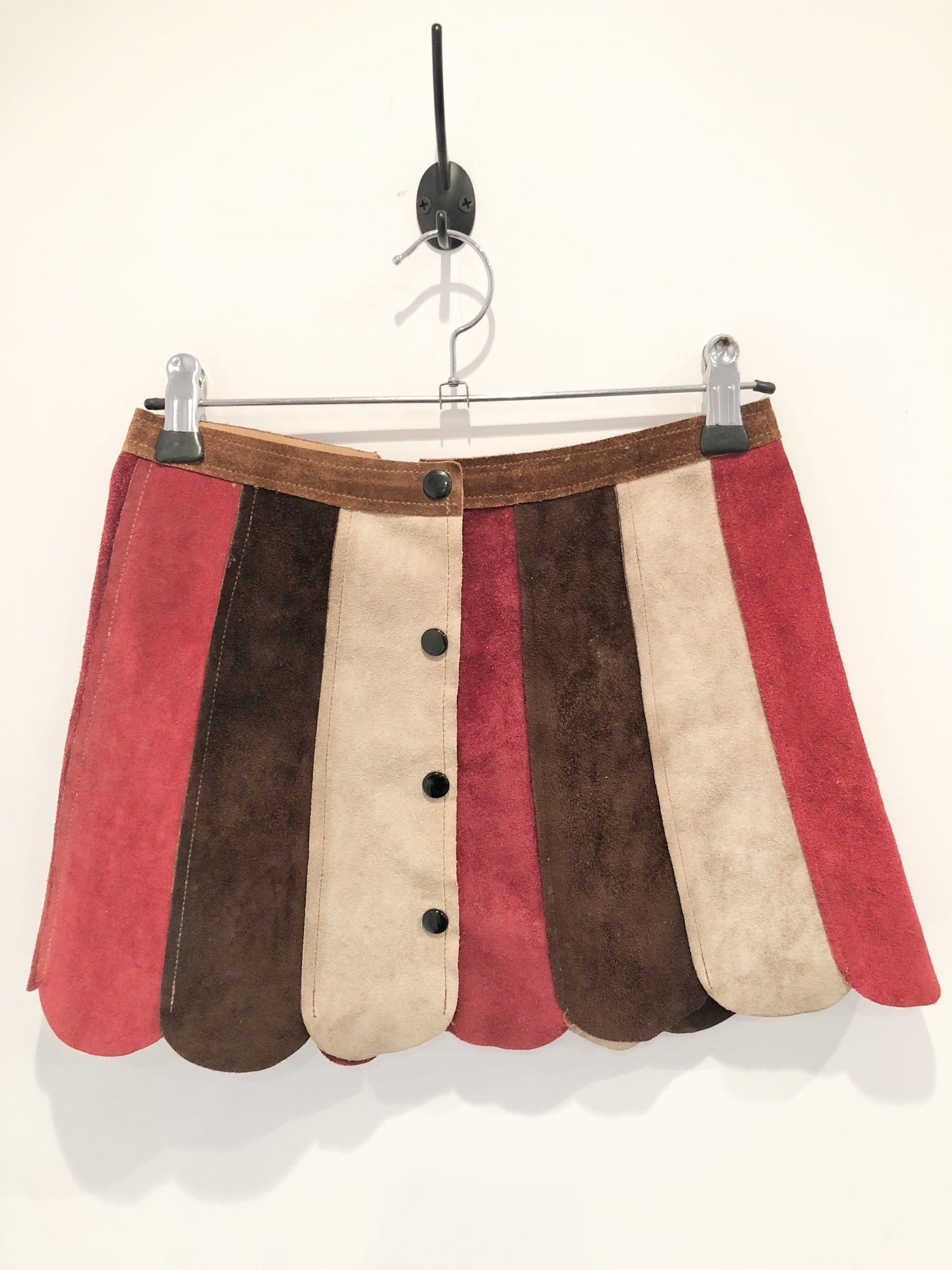Vintage 1960's Suede Mini Skirt - Size 4/6 XS - Vintage Women's Clothing