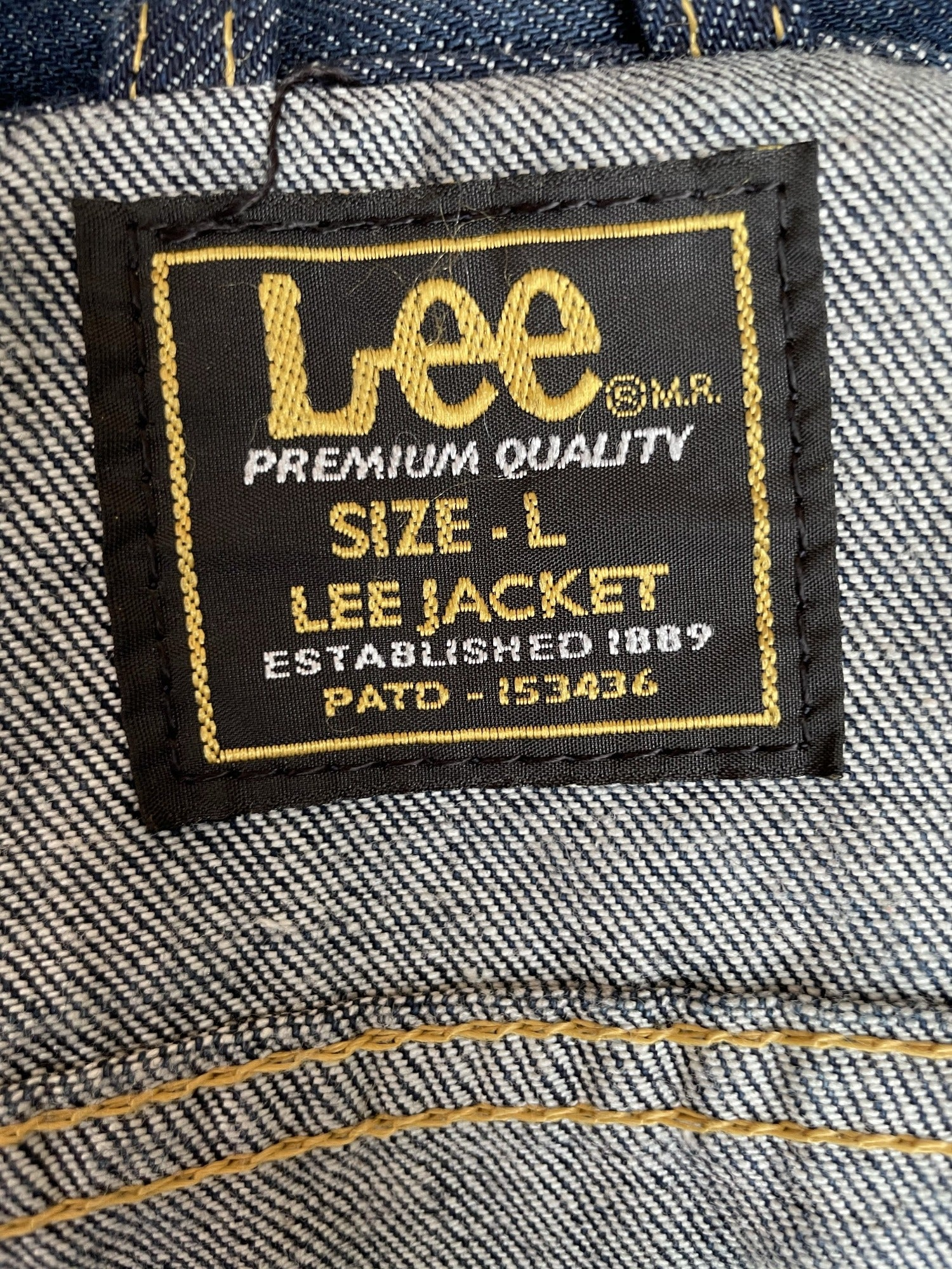 vintage  mens  Lee  l  Jacket  Denim jacket  denim  blue urban village clothing