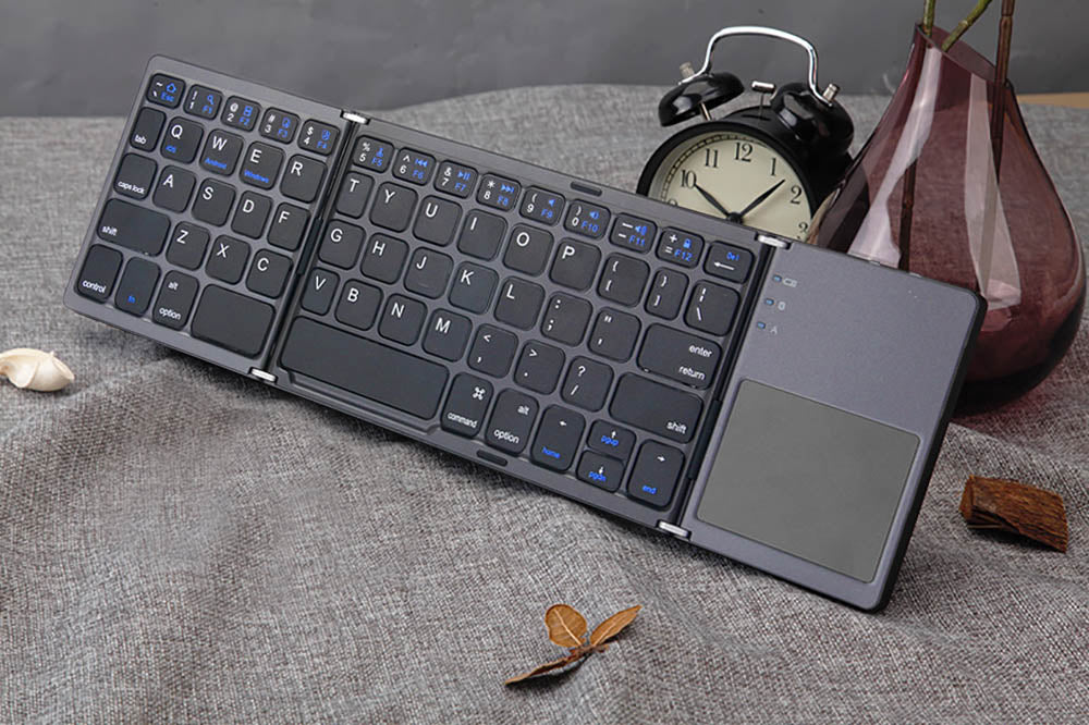 Foldable Bluetooth Mini Keyboard with Touchpad for macOS/iOS/Android/Windows