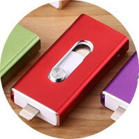 3-in-1 OTG USB Flash Drive for phones - 8GB to 256GB