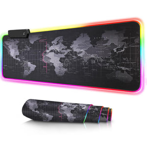 Electronic Gaming Mouse Pad With World Map