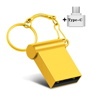 Waterproof Metal PenDrive in a Keychain - 32GB and 64GB
