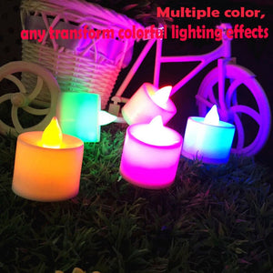 Dropshipping 1 pc Creative LED Candle Multicolor Color Lamp Flame Tea Light Wedding Birthday Party Decoration Birthday Party