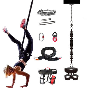 Bungee Dance Professional Yoga Bungee Fitness equipment Complete Exercise Resistance Cord Belt Bungee Dance Rope Gravity Workout