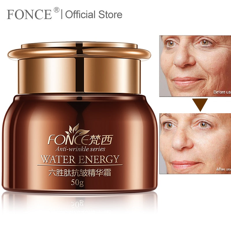 [Normal delivery] FONCE Face Cream Anti Aging Moisturizer Six Peptide Serum Wrinkle Remover Lifting Firming  night cream 50g