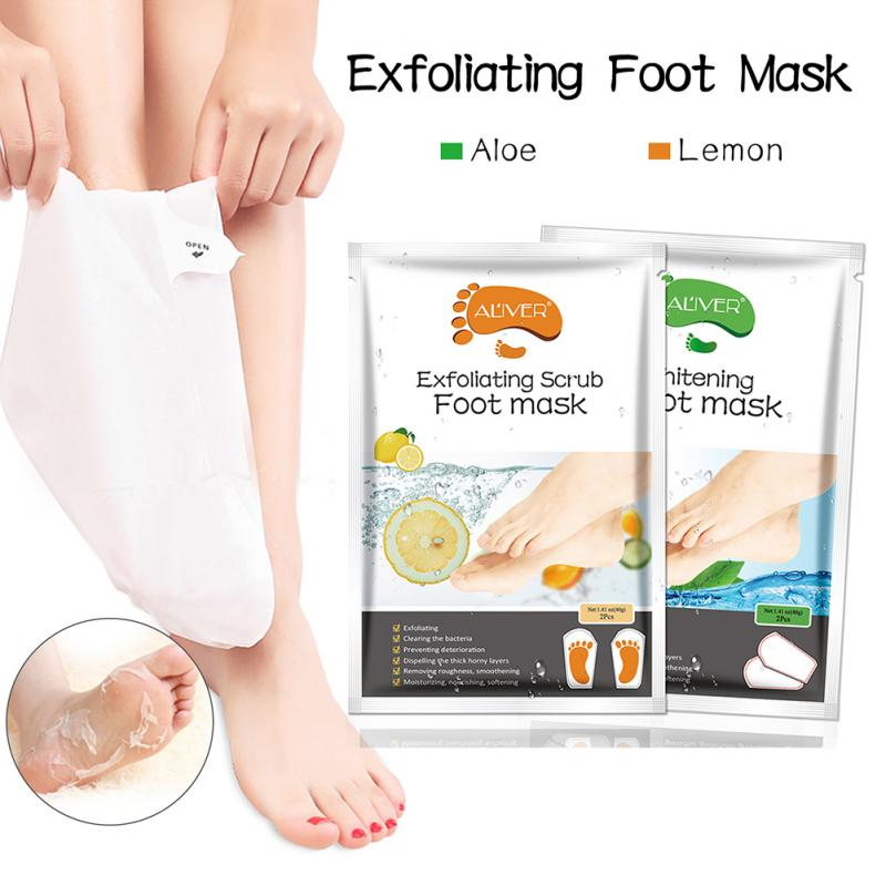 Lemon Exfoliating Foot Mask Moisturizing Hydrating Whitening Feet Skincare to Remove Dead Skin Foot Peeling Mask Feet care TSLM2