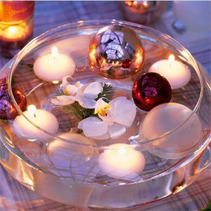 10pcs Unscented Floating Candles For Wedding Party Home Birthday Decor Candles  4 Color Creative Candle Free Shipping