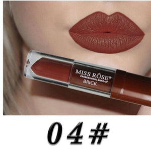 24 Color Liquid Lipstick Waterproof Long-lasting Non-stick Cup Lip Gloss Makeup Lips Matte Nude Metallic Mate Lipsticks