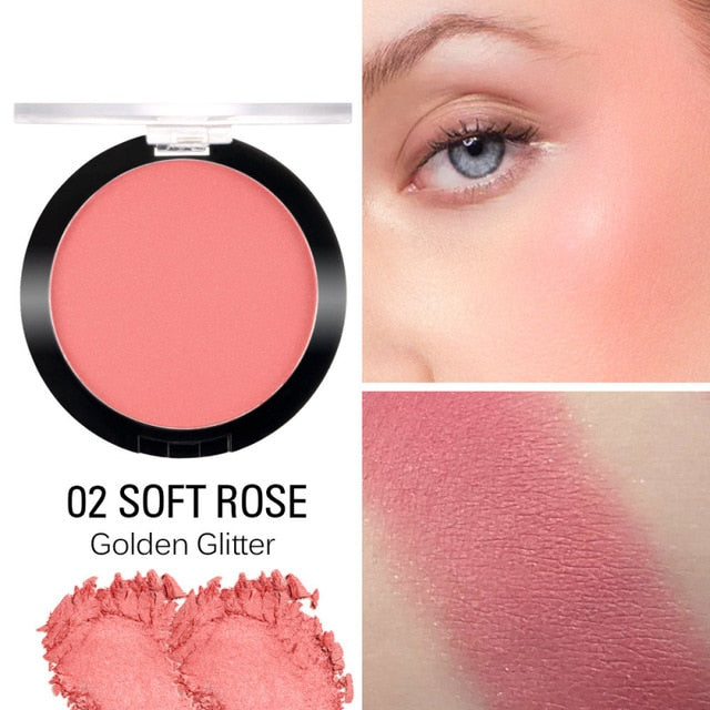 SACE LADY Makeup Blush Long Lasting Pigmented Baked Cheek Rouge MatteNatural Glow Powder Cosmetic Face Make Up Blusher TSLM2