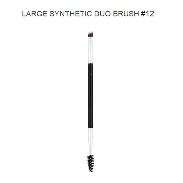 Professional Dual Sided Duo Brow Brush 12# 15# 7# 20# Eyebrow Enhancer Angled Eyebrow Brush + Comb Beauty Makeup Tool 1PCS