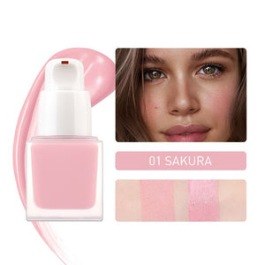 STAGENIUS Face Liquid Blush Blusher 6 Colors High Quality Pigment Long Lasting Natural Cheek Blush Cream Cosmetics