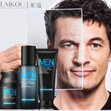 Anti Aging Daily Skincare Set For Men 3pcs/lot Cleanser Toner Cream Moisturizing Oil-control Shrink Pores Anti Wrinkle Face Care