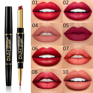 12 Colors Waterproof Nude Matte Velvet Glossy Lip Gloss Lipstick Lip Balm Long Lasting Sexy lip liner Makeup Cosmetics TSLM1