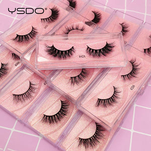 YSDO 1 pair 3D Mink Eyelashes Cruelty free Lashes Makeup Dramatic False Eye Lashes Fluffy Full Strip Thick Mink Lashes Faux Cils