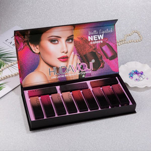 Cosmetic Matte Lipstick Waterproof Nutritious Velvet Lip Stick Red Tint Nude Batom Makeup Set Long-lasting Waterproof Lip Kit