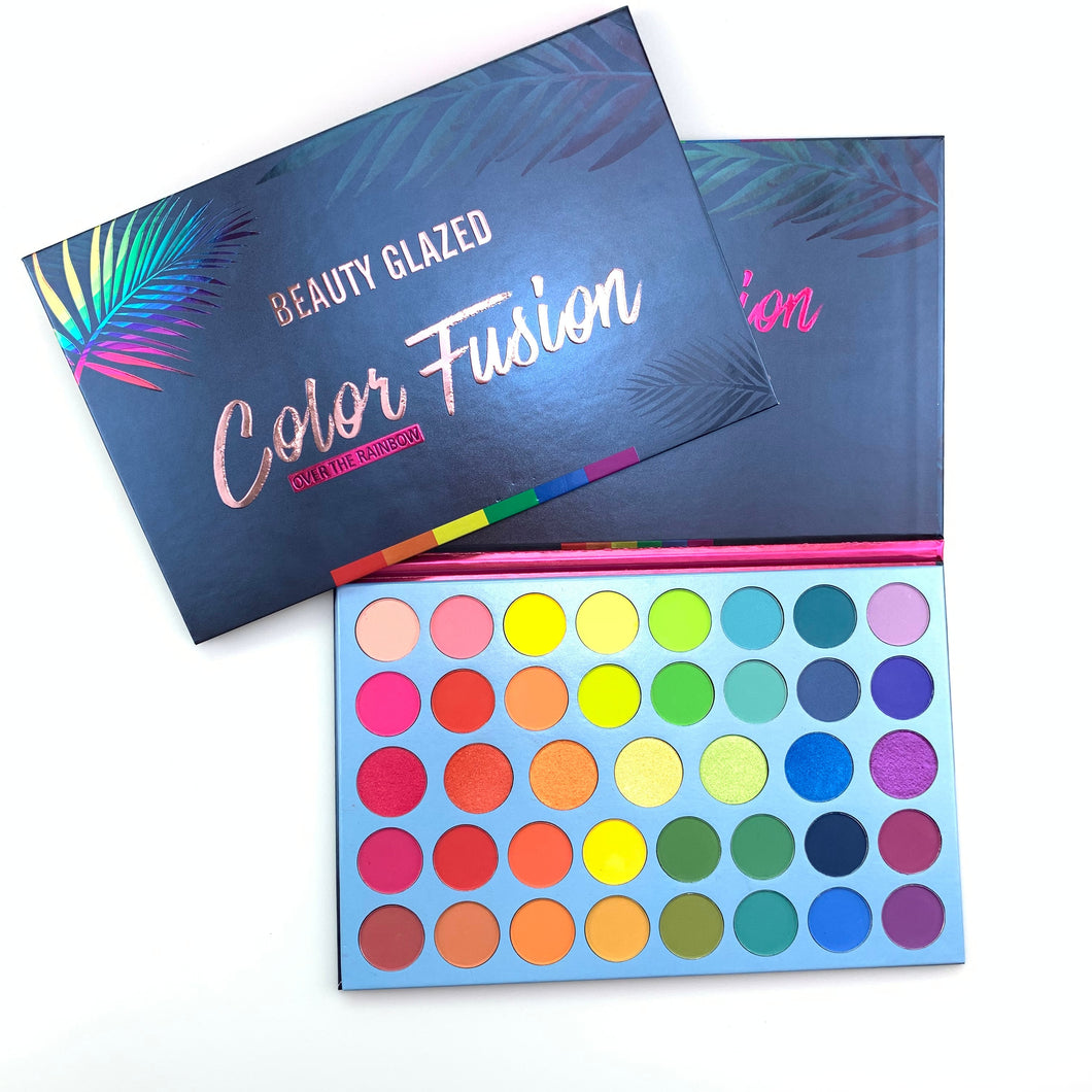 Beauty Glazed 39 Colors Glitter Matte Eyeshadow Palette Fluorescent Rainbow Disk Highlight Eyeshadow Palette maquillage TSLM2