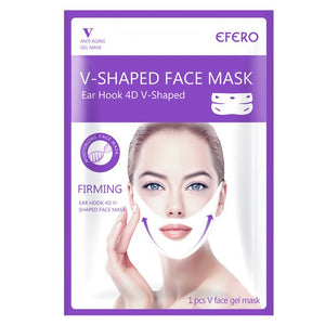 EFERO Double V Shaped Face Mask Moisturizing Lifting Visage Chin Neck Face V Shape Lifting Mask Mask To Slim Firm Skincare TSLM1