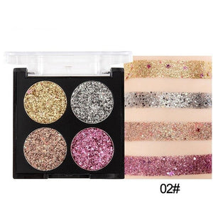 4 Colors Nude Eyeshadow Makeup Pigments Waterproof Professional  Glitter Nude Eye shadow Make up Palette Women Beauty Makeup