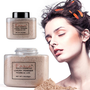 4 Colors Smooth Loose Face Powder Matte Lasting Oil-control Setting Powder Concealer Makeup Foundation Mineral Powder TSLM1