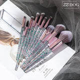 7/10 High quality Professional makeup brushes set cosmetic brush beauty tool kits for Foundation eyebrow powder lip eye shadow