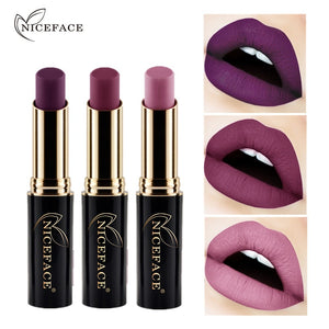 2019 New Metallic Matte Lipstick Waterproof Lip Stick 24 Color Nude Pigment Women Sexy Lips Makeup Matt Long Lasting Lipsticks