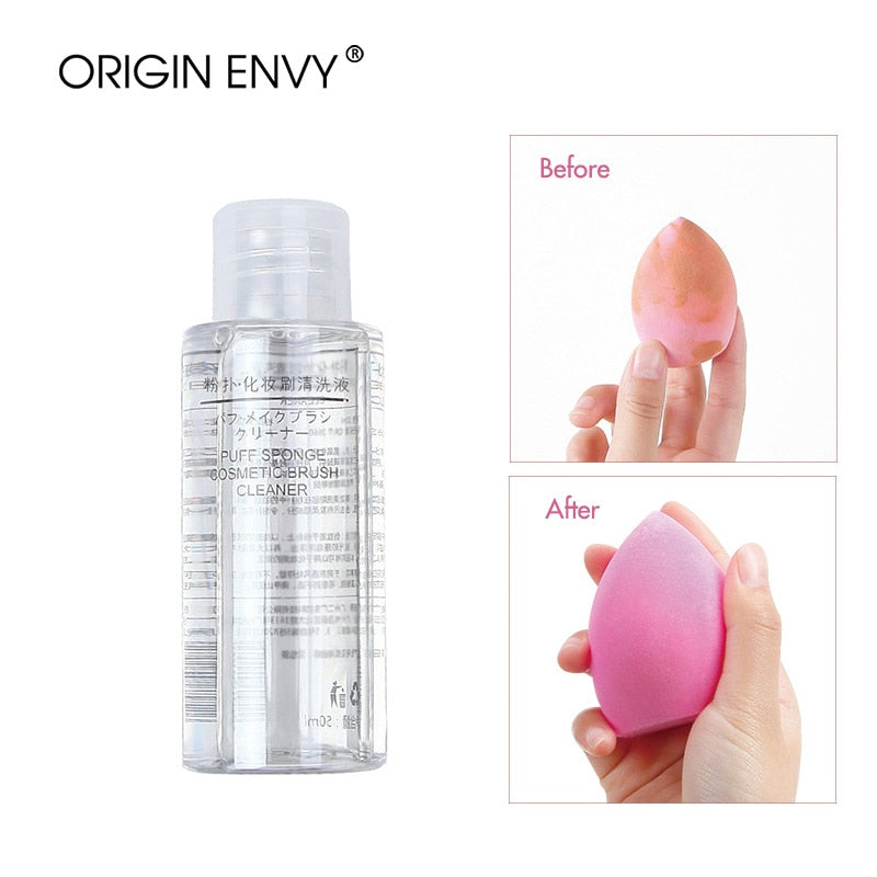 ORIGIN ENVY Portable Makeup Brush Powder Puff Cleaning Solution - Dirt Remove Quick Cleaning Liquid Fluid