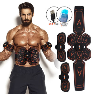 EMS ABS Rechargeable Wireless Abdominal Muscle Stimulator Smart Fitness Massage Sticker Weight Loss belt  Body Slimming belt