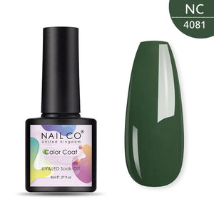 NAILCO 8 ML Color Gel Polish Soak Off UV Gel Varnish Semi Permanant UV Gel Nail Art Hybrid Varnishes All For Manicure lacquer