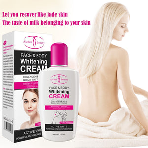 120ml Natural Face Body Cream Whitening Moisturizing Brightening Bleaching Body Lotion Private Armpit Skin Care TSLM2