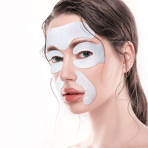 Ilisya Skincare Sets—1 Pair Eye Mask, 1 PC Forehead Patch, 1 Pair Nasolabial Folds Mask, Anti Wrinkles Anti Aging