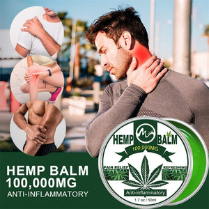 Minch 100000MG CBD Hemp Balm Pain Relief Cream Hemp Seed Oil Extract for Neck Pain Relief Reduce Anxiety Muscle Pain Relief