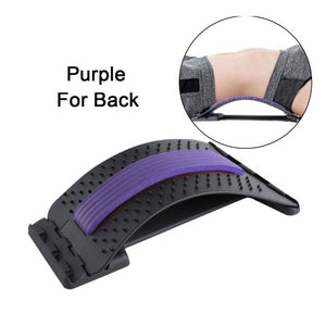 Back Massager Stretch Equipment Massage Corrector Tools Fitness Lumbar Support Relaxation Spine Pain Relief Magic Stretcher