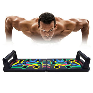 14 in 1 Push-Up Rack Board Training Sport Workout Fitness Gym Equipment Board for Body ABS Abdominal Muscle Building Exercise