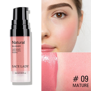 SACE LADY 7 Colors Liquid Blush Makeup Face Rouge Long Lasting Make Up Pro Natural Cheek Blusher Face blusher Cosmetic Wholesale