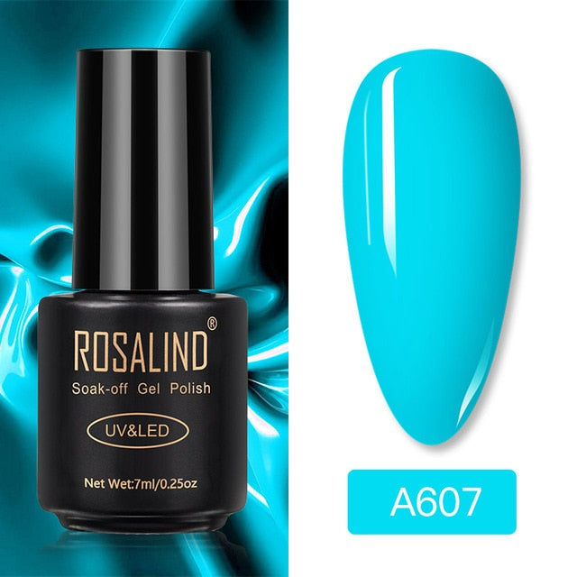 ROSALIND Gel Polish Varnish Set For Nails Extension Vernis Semi Permanent All for Manicure Base Coat Nail Art UV Gel Nail Polish