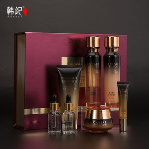 HANKEY roe essence Brightening hydrating seven-piece caviar set Beauty salon skincare set box