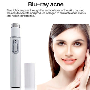 Drop Ship Blue Light Laser Therapy Acne Treatment Pen Soft Scar Acne Removal Anti Wrinkle Beauty Device Facial Massager Skincare