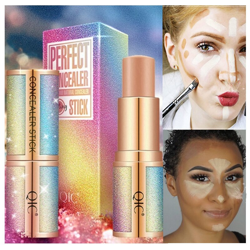 Highlighter Makeup Base Contour Face Concealer Cream Long-lasting Bronzer Stick Light Shadow Repair Capacity Nose Pencil